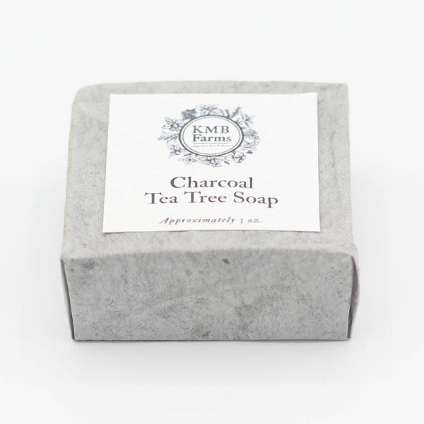 KMB Farms--Charcoal Tea Tree Soap Packaging
