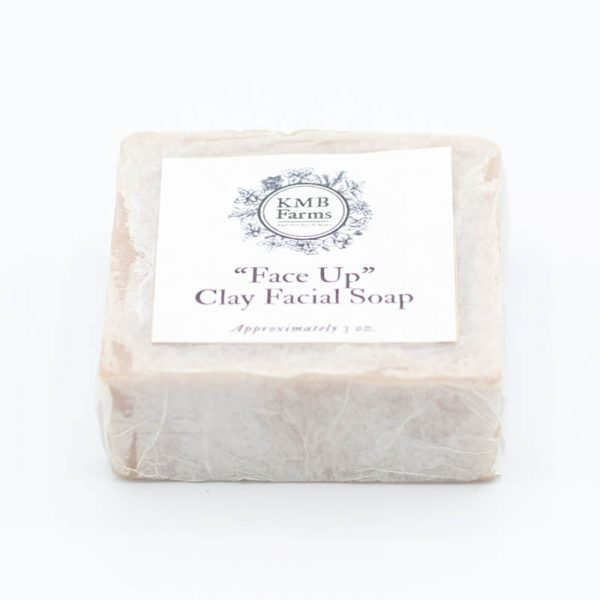 KMB Farms--Face Up Clay Facial Soap Packaging